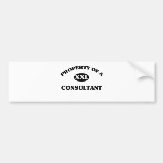 Property of a CONSULTANT Bumper Stickers