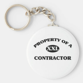 Property of a CONTRACTOR Key Chains