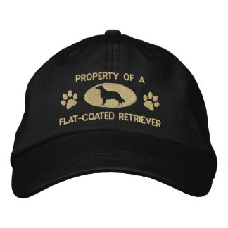 Property of a Flat-Coated Retriever Embroidered Hat