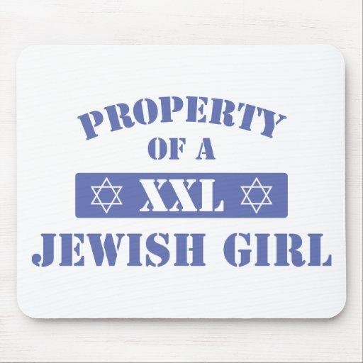 Property Of A Jewish Girl Mousepads