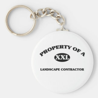 Property of a LANDSCAPE CONTRACTOR Keychain