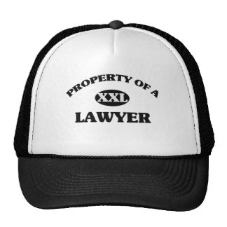Property of a LAWYER Hats
