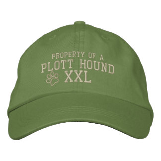 Property of a Plott Hound Embroidered Hat