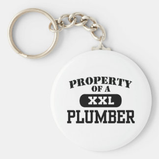 Property of a Plumber Basic Round Button Key Ring