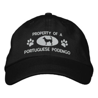 Property of a Portuguese Podengo Embroidered Hat