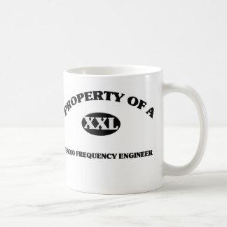 Property of a RADIO FREQUENCY ENGINEER Basic White Mug