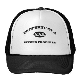 Property of a RECORD PRODUCER Mesh Hats