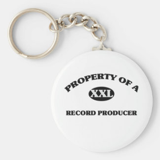 Property of a RECORD PRODUCER Basic Round Button Key Ring