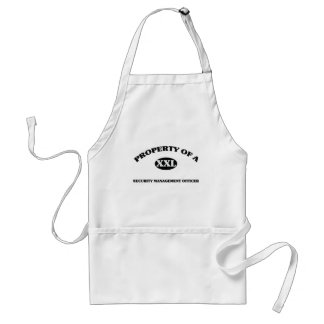 Property of a SECURITY MANAGEMENT OFFICER Aprons
