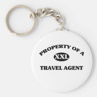 Property of a TRAVEL AGENT Keychains