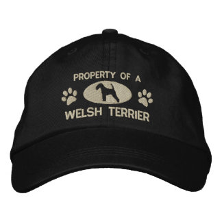 Property of a Welsh Terrier Embroidered Hat