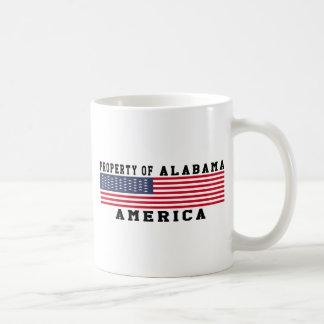 Property Of Alabama Basic White Mug