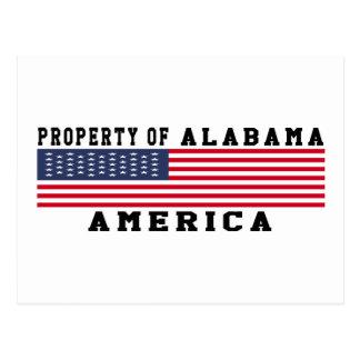 Property Of Alabama Postcard