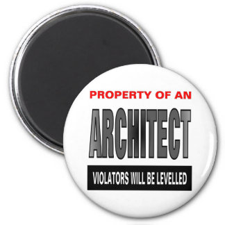 Property Of An Architect 6 Cm Round Magnet