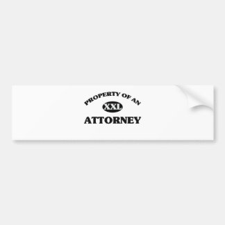 Property of an ATTORNEY Bumper Sticker