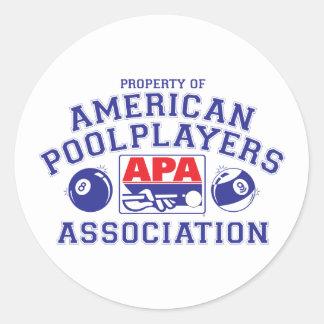 Property of APA Classic Round Sticker