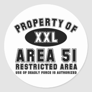 Property of Area 51 Round Sticker