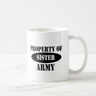 Property of Army Sister Mugs