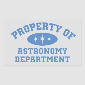 Property Of Astronomy Department Rectangular Sticker