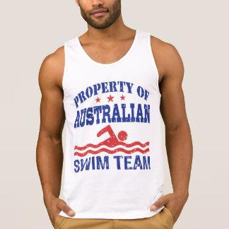 property of Australian Swim Team Singlet