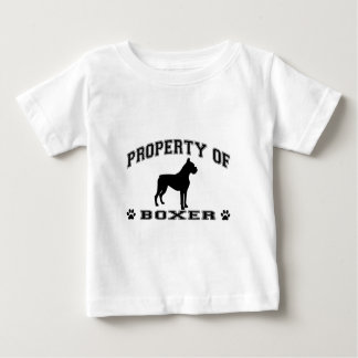 """""""Property of Boxer"""" words with dog silhouette Tshirt"""