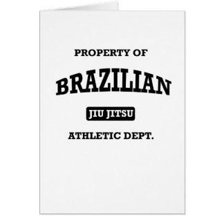 Property of Brazilian Jiu Jitsu Atheltic Departmen Card