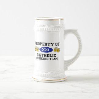 Property of Catholic Drinking Team Mugs