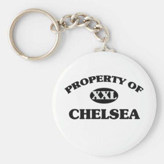 Property of CHELSEA Basic Round Button Key Ring