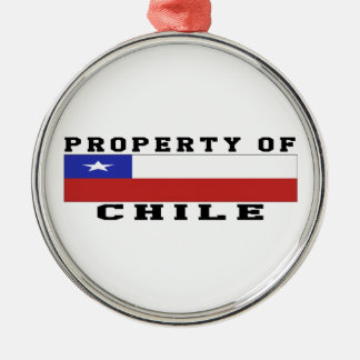 Property Of Chile Silver-Colored Round Decoration