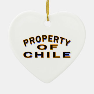 Property Of Chile Ceramic Heart Decoration