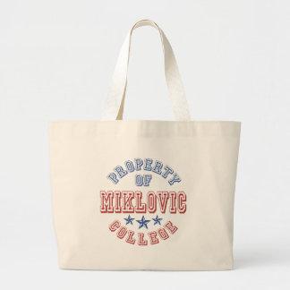 Property Of College Miklovic Bag