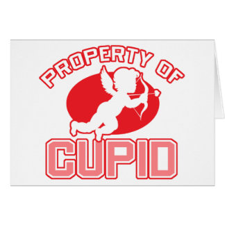 Property of Cupid Valentine's Day Greeting Card