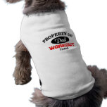 Property of dad workout team sleeveless dog shirt