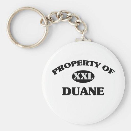 Property of DUANE Key Chains