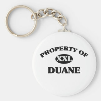 Property of DUANE Key Chains