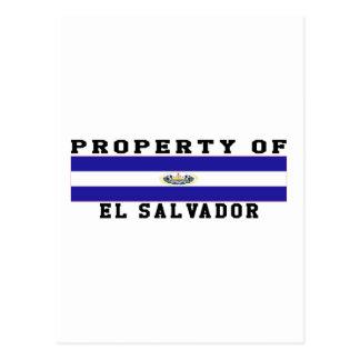 Property Of El Salvador Postcard