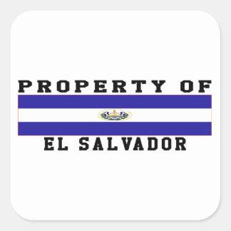 Property Of El Salvador Square Sticker