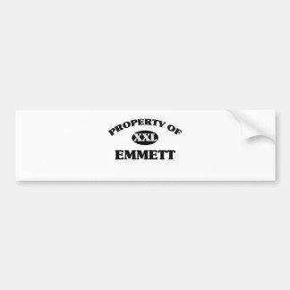 Property of EMMETT Bumper Sticker