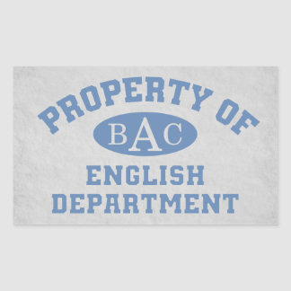 Property Of English Department Rectangle Stickers