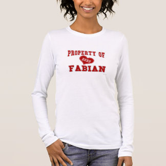 Property of Fabian Long Sleeve T-Shirt