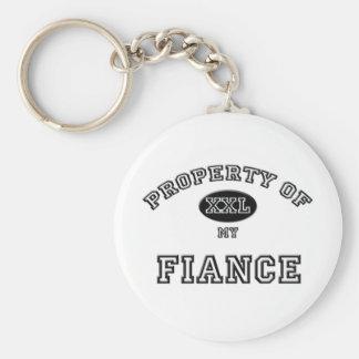 Property of Fiance Basic Round Button Key Ring