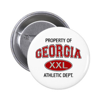 PROPERTY OF GEORGIA ATHLETIC DEPT 6 CM ROUND BADGE