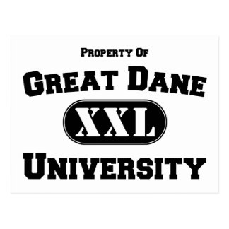 Property of Great Dane University Postcard