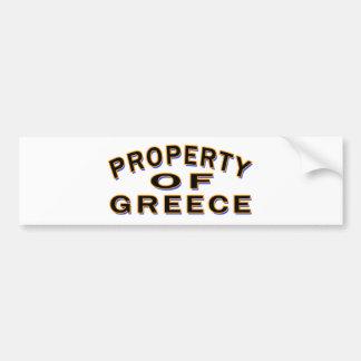 Property Of Greece Bumper Sticker