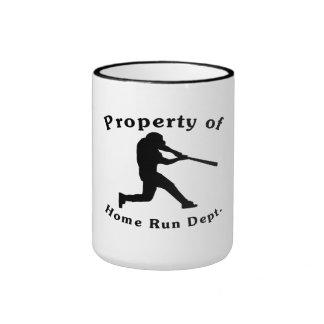 Property Of Home Run Dept Coffee Mugs