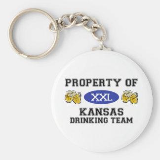 Property of Kansas Drinking Team Key Ring