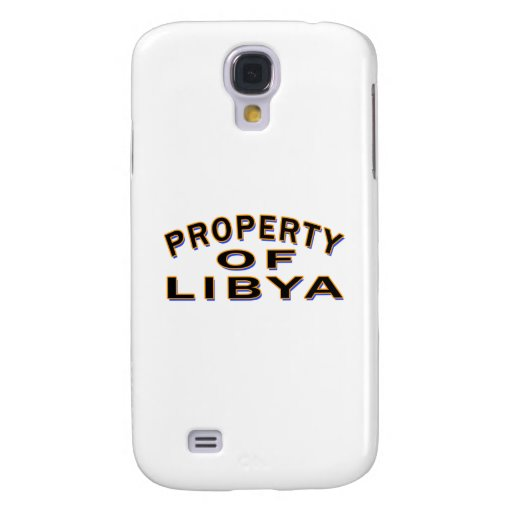 Property Of Libya. Galaxy S4 Cover