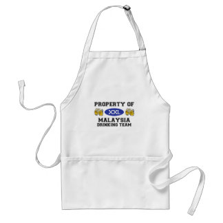 Property of Malaysia Drinking Team Standard Apron
