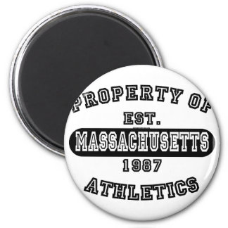 Property of Massachusetts shirts 6 Cm Round Magnet