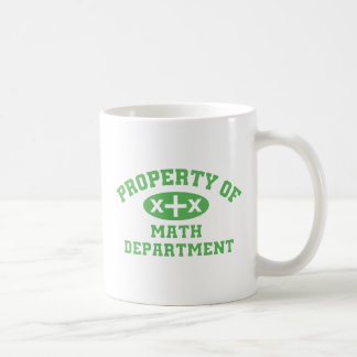 Property Of Math Department (green) Mug